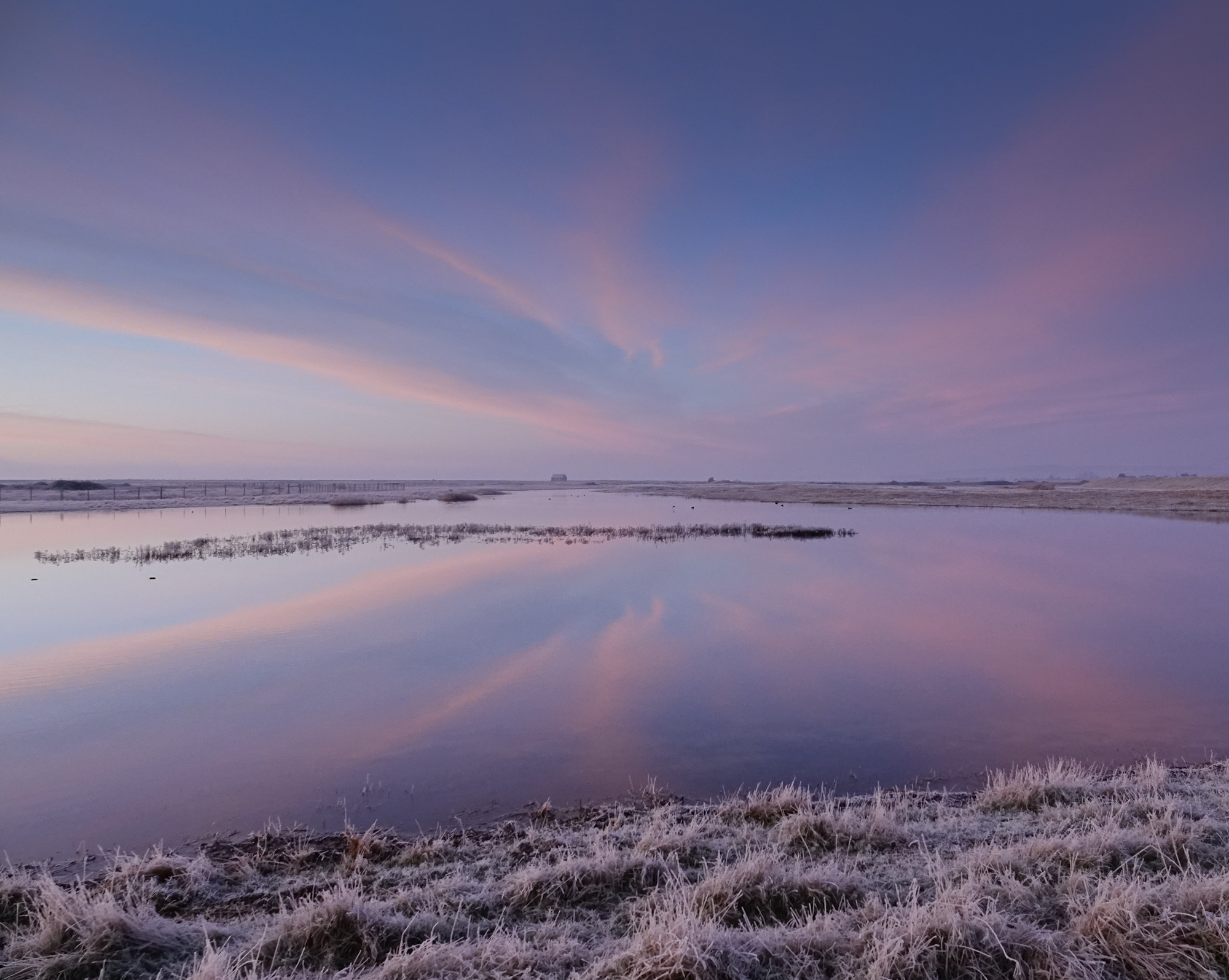 Sunrise at Rye Harbour Nature Reserve, East Sussex.