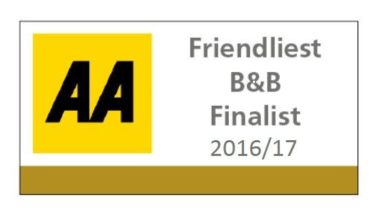 AA Friendliest B&B Of The Year - Finalist 2016/17