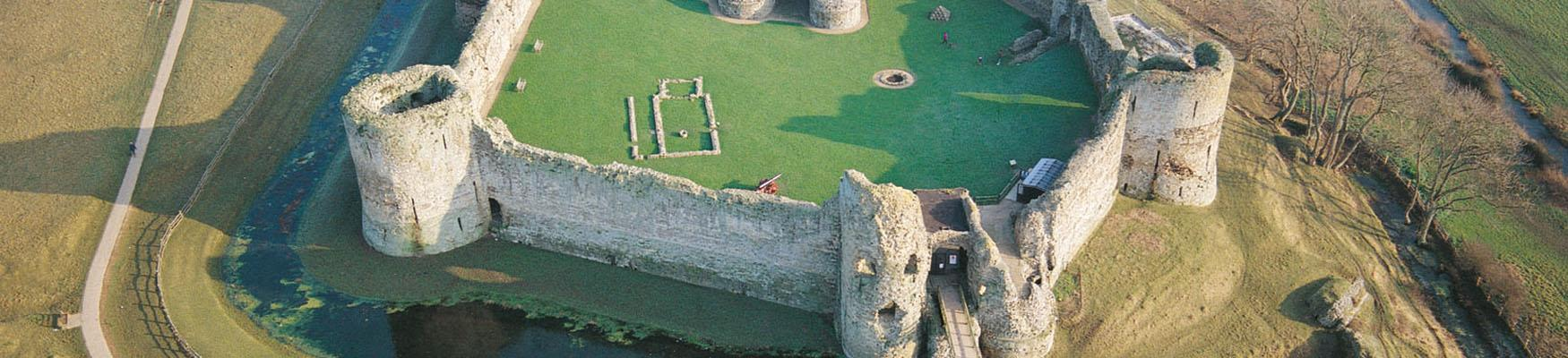 Pevensey Castle from above