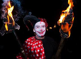 bonfire night jester