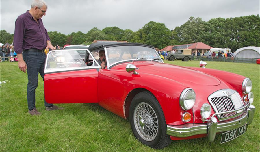 Classic Car Show on Father's Day at the Rare Breeds Centre in Woodchurch, Ashford, Kent.
