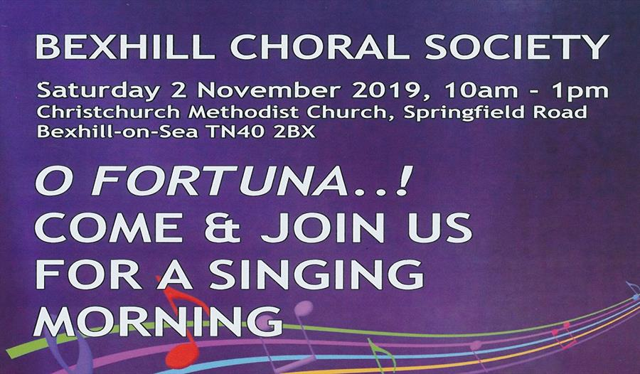Enjoy an Open Singing Morning with Bexhill Choral Society