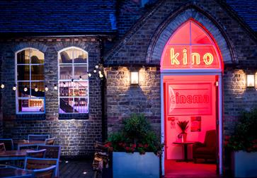 Courtyard and entrance at Kino Rye cinema
