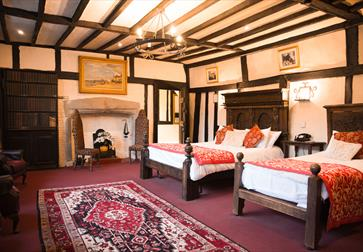 Dr Syn's bedchamber at The Mermaid Inn, Rye