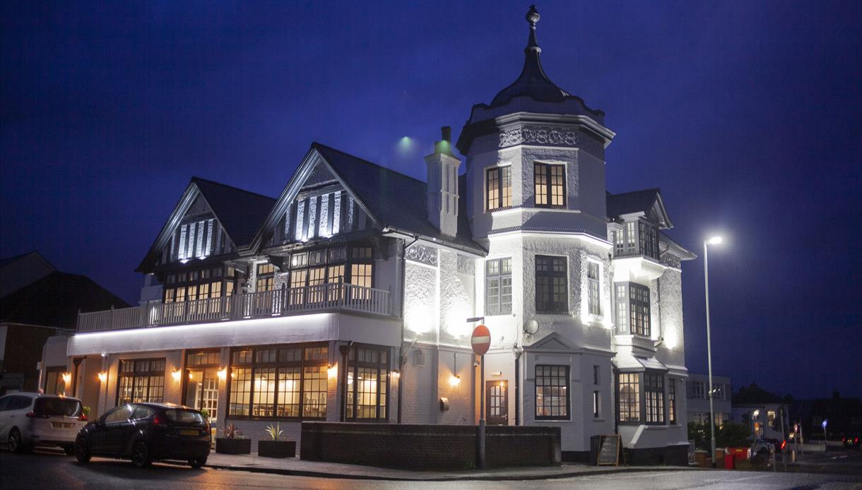 External view of The Bay Hotel, Pevensey, East Sussex.