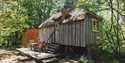 Woodcutter's Cottage at Swallowtail Hill glamping near Rye, East Sussex