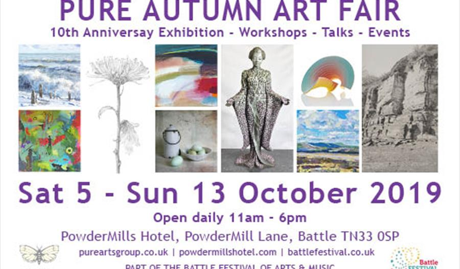 Poster for Pure Autumn Art Fair in Battle