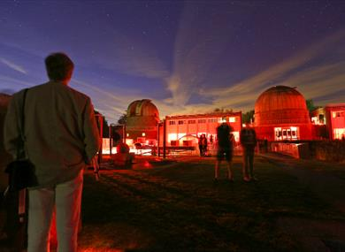 Observatory Science Centre at night